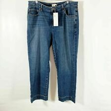 New Eileen Fisher Women's Organic Cotton Stretch Cropped Jeans Size 10 Denim