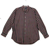 Ralph Lauren Pony BLAKE Shirt Mens L Large Red Blue Plaid Long Sleeve Button Up