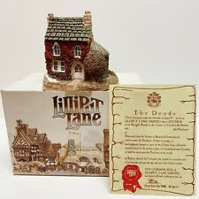Lilliput Lane Holly Cottage 1984 Collectible with Deed&Box Handmade in Uk