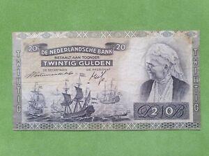 Banknote from Netherlands 20 gulden 1941