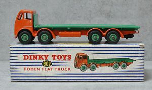 Dinky Toys 902 Foden Flat Truck Orange / Green  Near Mint in Box Original