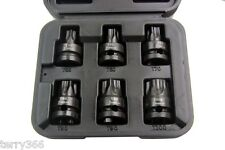 """US PRO 1385 1/2"""" DRIVE BIG TORX BIT IMPACT SOCKET SET T55 T60 T70 T80 T90 T100"""