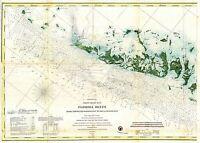 1859 Florida Keys and Key West reefs US Coast Survey Map Nautical Chart