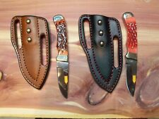 New Handmade Leather Cross Draw Knife Sheaths with New Steel Warrior Knives