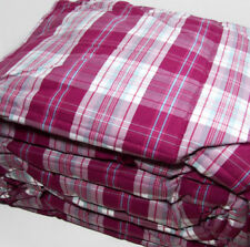 Lands End Pink Purple Blue Plaid Full Queen Comforter 2 Standard Shams New