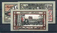 Köln 3 Scheine Notgeld ....................................................z1217