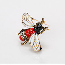Lovely Rhinestone Bee Insect Shape Metal Enamel Brooch Lapel Pin Fashion Jewelry