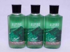 Bath & Body Works Alpine Suede For Men Hair & Body Wash X3