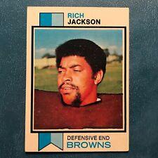 1973 Topps Set RICH JACKSON #129 CLEVELAND BROWNS - NR-MINT *HIGH GRADE*