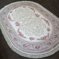 Teppich Brillant Oval 130 cm x 190 cm / pflegeleicht / rutschfest / top Qualität