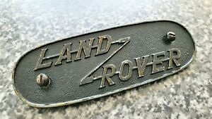 Land Rover Series One Grill Badge (GENUINE)