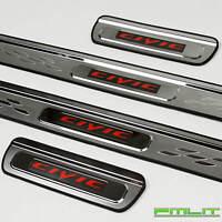 PMLIT LED Red Illuminated Door Sills Plates for 06-11 Honda Civic - 4dr Sedan
