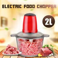 220V 2L Electric Food Chopper Meat Grinder Blender Household Processor Machine