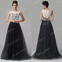 Womens Evening Gown Bridesmaid Dress Cocktail Party Gown Lace Long Dresses New