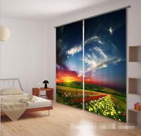 3D Sky field 55 Blockout Photo Curtain Printing Curtains Drapes Fabric Window AU