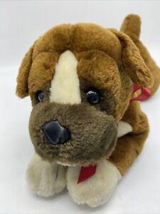 Animal Alley Toys R Us Boxer Dog Puppy Stuffed Plush Brown White 2007