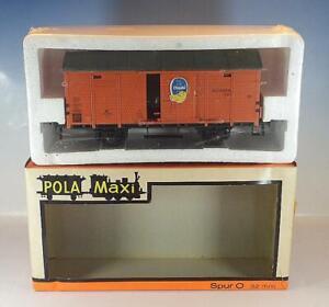 Pola Maxi Spur 0 Nr.066 gedeckter Güterwagen / Bananenwagen ìn O-Box #1194