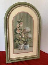 Home Interiors - Hollyhock & Hydrangea Picture (Flower wall decor)