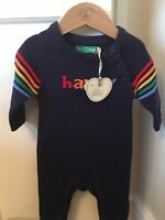 Little Bird Jools By Oliver 0-3 Mths HAPPY knitted All In One ** Plus Hanger**