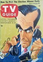 November 3-9 1956 Election Coverage No Label Vintage TV Guide