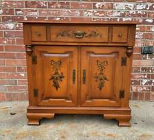 """Vintage Tell City Cabinet Solid Maple Young Republic Hitchcock Style Stencil 32"""""""
