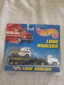 1997 Hot Wheels Long Haulers w/Auto City Tow Truck NIB. 10 Spoke Variation