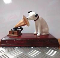Victor Nipper listens to HIS MASTER'S VOICE 6 in Ceramic Dog Figurine Statue