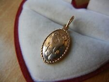 Vintage pendant Olympic Games 1980 Moscow GOLD 583 star stamp USSR Soviet 2.4 g