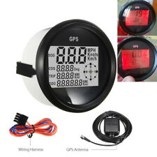 0-999 Kmh Boot Auto GPS Tachometer Digitalanzeige Rot LCD MPH Knot Wasserdicht
