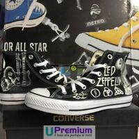 Converse All Star Led Zeppelin Robert Plant Scarpe Disegnate Handmade Paint Uomo