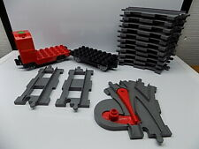 16 pc Lego Duplo Train Tracks Lot