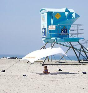 Tenda spiaggia bianca mare varie misure parsole portatile sacca leggera vela