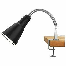 IKEA KVART NERO Muro & Morsetto Faretto Lampada con manico regolabile (E14)