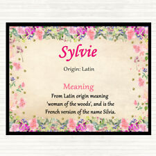 Sylvie Name Meaning Mouse Mat Pad Floral