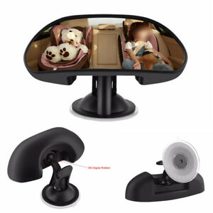 1X Car Interior Rear View Mirror Rear View Back Seat Child Baby With Suction Cup