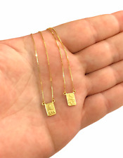 18k Gold Scapular SMALL REINFORCED CHAIN - 3 gr