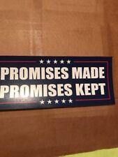 TRUMP PROMISES MADE KEPT PRESIDENT 2020 USA STICKER