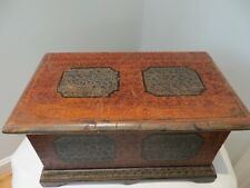 """Small Antiqued Grain/Sponge Painted Blanket Chest Reproduction 17.5"""" x 9.75"""""""