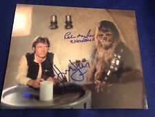 Signed Star Wars Harrison Ford & Peter Mayhew 8x10 photo Autograph  Han Solo
