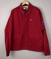 Tommy Hilfiger Herren Vintage Bomber Jacke Größe L AVZ332