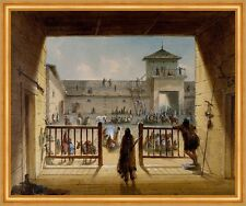 Interior of Fort Laramie Alfred JACOB MILLER base militare nel cortile B a1 00400