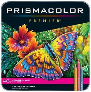NEW Prismacolor Premier Soft Core Colored Pencils, Assorted Colors, Set of 48