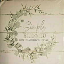 """Simply Blessed 2021 Wall Calendar 11""""X11"""" Organize Monthly Planner, Desk Planner"""