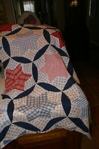 "Vintage Quilt Piece 36""X48"" NO BACKING  IN VERY GOOD CONDITION"