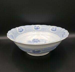 "Antique Light Blue 19th Century Transferware 14"" Basin Bowl EXCELLENT"
