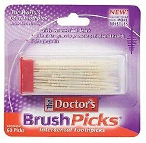 The Doctor's Brushpicks Toothpicks 60 picks (12 pack)