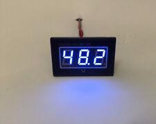 48V Golf Cart Digital Volt Meter Battery Gauge for Club Car EZGO Yamaha Blue