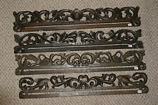 Hand carved Lacy Foliage Wood Textile Wall Display Drapes' Hanger Rod Rack 267,8