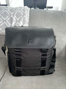 PAPERCLIP Willow Quilted Diaper Bag Travel Backpack Changing Pad -  BLACK