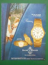 9/1980 PUB SWISS WATCH  MONTRE SUISSE BAUME & MERCIER RIVIERA TENNIS FRENCH AD
